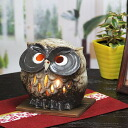 Shin raku pottery incense burners! Ideal for interior! OWL tea incense aroma pot pottery / or kimono / Japanese / OWL / pottery / tea / [ty-0004]