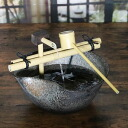 Shin raku pottery water electric tsukubai! Pottery tsukubai! Circulation and water Koto cave / water / 蹲 / Kakei / かけひ / world miniature Shin Raku Kakhi spring / Japanese style [dt-0030]