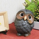 Shin Shigaraki Pottery OWL figurine! OWL called happy! / OWL / pottery OWL and OWL figurine / OWL and while big Shine / pottery / pottery / ornaments / gift /