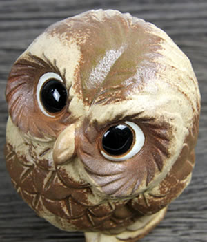 Owl figurehead ceramics owl Shigaraki ware