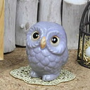 Feng Shui OWL! Purple OWL fukuju amicably in the interests! Shin Raku and OWL figurines / pottery OWL / OWL / or kimono / and while big / pottery / luck / pottery / gift