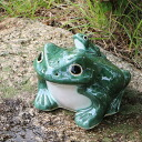 Shigaraki ware 7, frog! Good luck frog / garden to the front door before pottery frog! Pottery / ceramics / and while big frog shine / frog / ware and Shigaraki frog / [ka-0052]