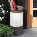 Shin Shigaraki ware white lattice eyes umbrella stand! The Interior of the door! Pottery / Shigaraki ware or freshly pottery umbrella stand / Japanese style umbrella stand / pottery / umbrella freshly, and pot / vase / while when put an umbrella / Casa T