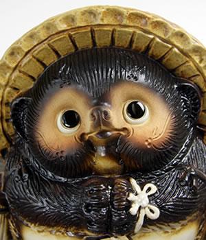 たぬき置物 信楽焼き狸 陶器タヌキ