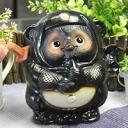 Ceramic Tanuki call Doron Ninja raccoon (black) Bok lucky charm! Shin Raku Tanuki / Shinshu raku pottery Ninja racoon / ceramic Tanuki Ninja raccoon raccoon / Tanuki / pottery / raccoon figurine