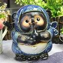 Ceramic raccoon call Doron Ninja raccoon (blue) Bok lucky charm! Shin Raku Tanuki / Shinshu raku pottery Ninja racoon / ceramic Tanuki Ninja raccoon raccoon / Tanuki / pottery / raccoon figurine [ta-0084]