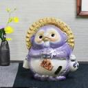 Wind water Asian racoon (purple), Fu got amicably in blessings and! Luck Shin Raku raccoon Pom / pottery Tanuki and raccoon figurine / or kimono / pottery / Tanuki / wind sennosuke pulling out [ta-0091]