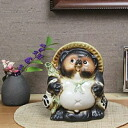 Shigaraki ware-5 Fu raccoon! Shin Raku Tanuki bringer Tanuki pottery raccoon raccoon figurine / or kimono / and while big Shine / pottery racoon / racoon / Shigaraki raccoon dog [ta-0070]