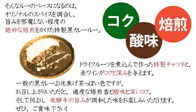 喜八郎飛騨牛黒カレーについて3