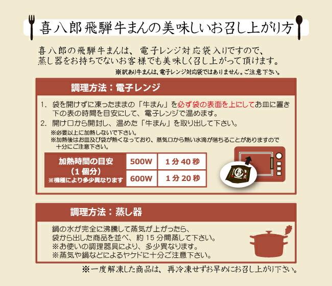 喜八郎飛騨牛まんの美味しい食べ方