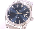 2517.80 omega OMEGA Cima star aqua terra men SS blue clockface quartz
