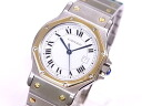 Cartier CARTIER Santos octaGon LM SS X YG white clockface self-winding watch