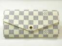 路易 · 威登 Louis Vuitton Damier Azul N63208 錢包,莎拉拉鍊長錢包