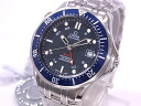 Omega OMEGA 2535.80 Seamaster Pro GMT co-axial Navy dial automatic winding skeleton