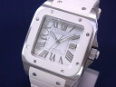 100 Cartier CARTIER Santos MM Lady's SS X rubber white clockfaces