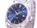 Omega-OMEGA 2518.80 Seamaster Aqua Terra mens blue dial SS quartz