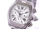 Cartier CARTIER W62019X6 roadster chronograph SS silver clockface self-winding watch
