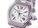 Cartier CARTIER W62019X6 roadster chronograph SS silver clockface self-winding watch