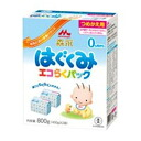 Bring up Morinaga Milk Industry, and repack an eco-pack taking its ease; is *2 bag of 400 g (dry milk) from 用 0 months