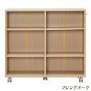 IRIS Ohyama storage cart oak SYD-7520