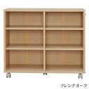 IRIS Ohyama storage cart oak SYD-7529