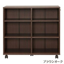 IRIS Ohyama storage cart Brown oak SYD-7529