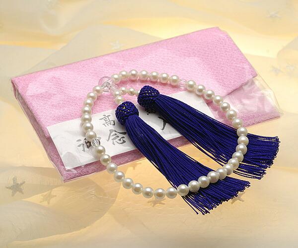 【真珠の本場 伊勢志摩よりお届け】淡いクリーム系の優しい色目♪6.5〜7.0mm あこや本真珠念珠【n0212】