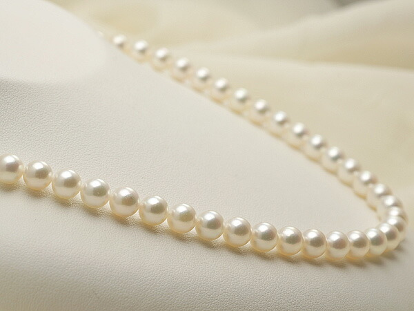 【真珠の本場 伊勢志摩よりお届け】ほのかな淡いピンク♪7.0-7.5mm あこや本真珠ネックレス【nc0102】