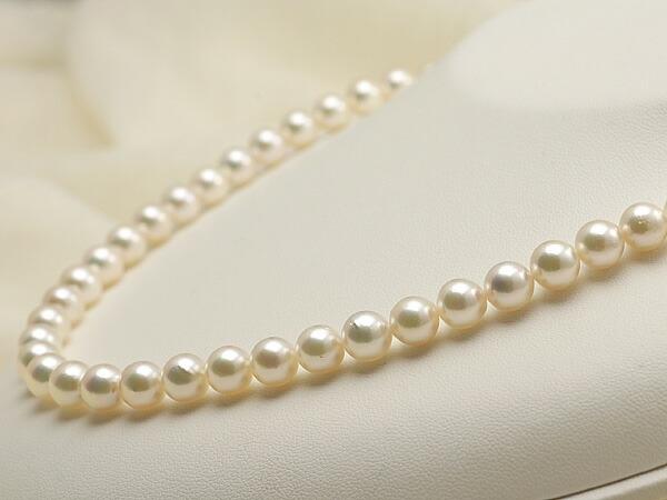 【真珠の本場 伊勢志摩よりお届け】7.5-8.0mm淡いグリーンピンク♪あこや本真珠パールネックレス【nc0138】