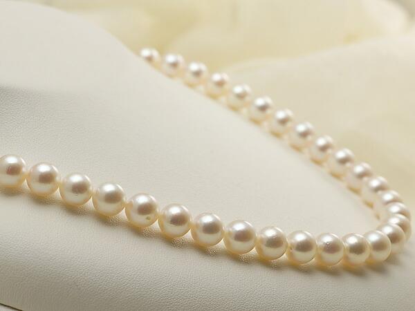 【真珠の本場 伊勢志摩よりお届け】ピンクの柔らかな輝き♪8.5〜9.0mmあこや本真珠ネックレス