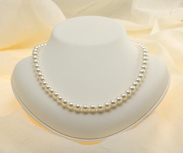 【真珠の本場 伊勢志摩よりお届け】グリーンピンクが美しい♪7.0〜7.5mmあこや本真珠ネックレス【nc0498】
