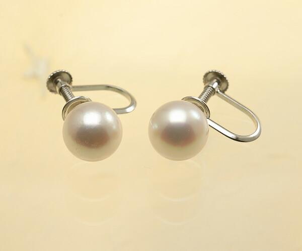 【真珠の本場 伊勢志摩よりお届け】華やかピンクが魅力♪8.5mmあこや本真珠イヤリング(ネジ式)【eg0079】
