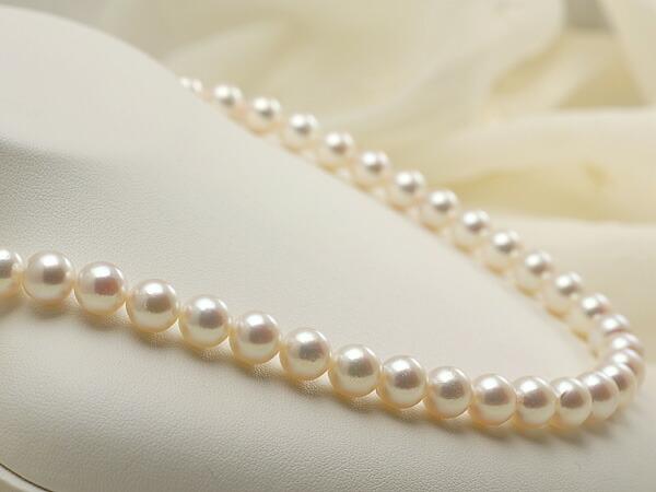 【真珠の本場 伊勢志摩よりお届け】優しいピンクが広がる♪8.5〜9.0mmあこや本真珠ネックレス
