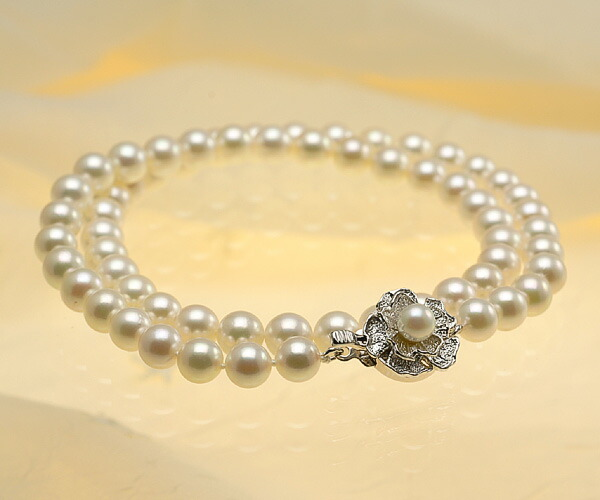 【真珠の本場 伊勢志摩よりお届け】ピンクにほんのりグリーン♪6.5〜7.0mmあこや本真珠ネックレス【nc0388】(全体アップ)