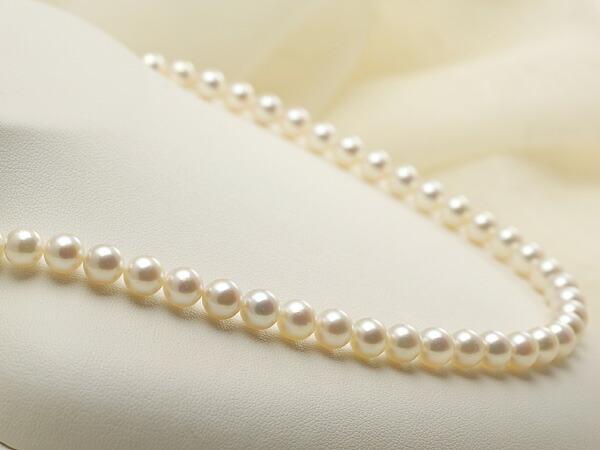 【真珠の本場 伊勢志摩よりお届け】淡い優しいピンク♪6.5-7.0mmあこや本真珠パールネックレス【nc0392】