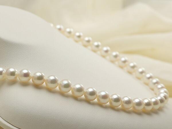 【真珠の本場 伊勢志摩よりお届け】淡いピンクグリーン♪8.5〜9.0mmあこや本真珠ネックレス