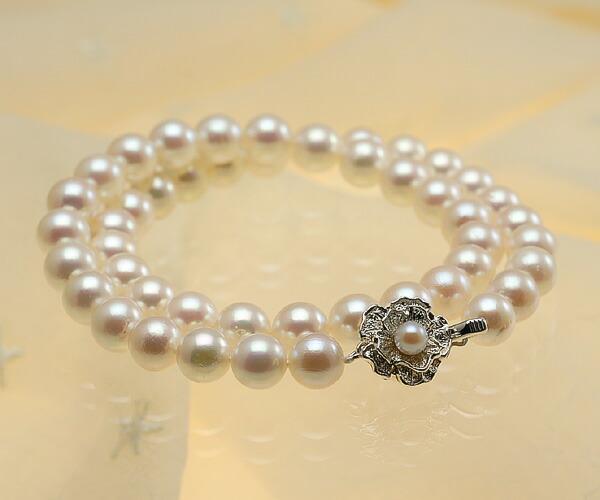 【真珠の本場 伊勢志摩よりお届け】華やかな淡いピンク♪8.5〜9.0mmあこや本真珠ネックレス