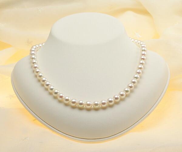 【真珠の本場 伊勢志摩よりお届け】7.5-8.0mm華やかピンクが魅力♪あこや本真珠パールネックレス【nc0449】