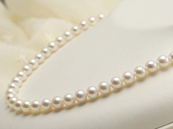 【真珠の本場 伊勢志摩よりお届け】7.5〜8.0mm深みのある色目が魅力♪あこや本真珠ネックレス【nc0488】