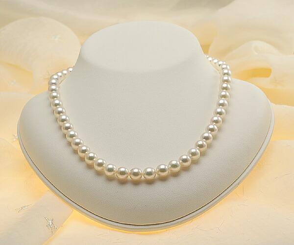 【真珠の本場 伊勢志摩よりお届け】8.0-8.5mmあこや本真珠パールネックレス