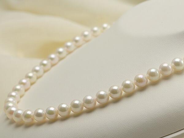 【真珠の本場 伊勢志摩よりお届け】爽やかなグリーンピンク♪8.0〜9.0mmあこや本真珠ネックレス【nc0535】
