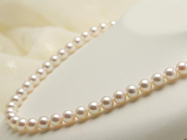 【真珠の本場 伊勢志摩よりお届け】7.5〜8.0mm優しい桜色♪あこや本真珠ネックレス【nc0544】
