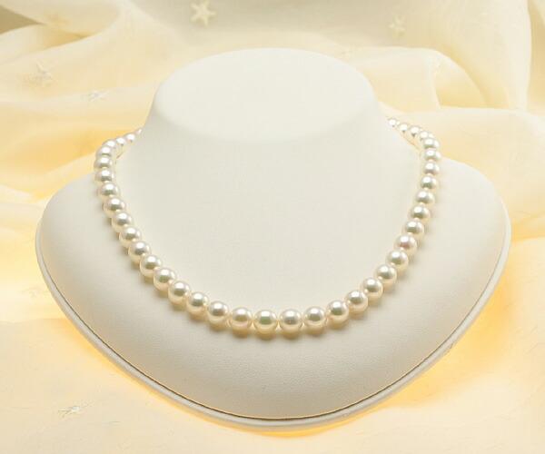【真珠の本場 伊勢志摩よりお届け】8.0-8.5mm あこや本真珠ネックレス