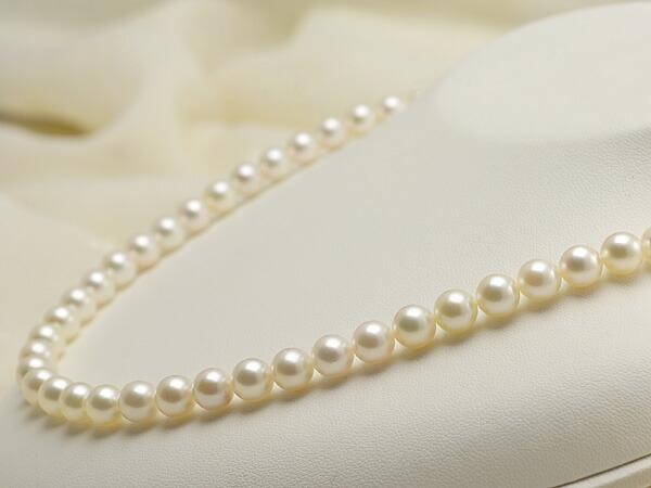 【真珠の本場 伊勢志摩よりお届け】淡い上品グリーン♪7.0〜7.5mmあこや本真珠ネックレス・イヤリングセット【nc0580】
