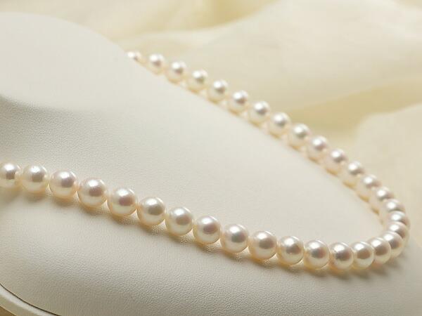 【真珠の本場 伊勢志摩よりお届け】8.0-8.5mm淡い優しいピンク♪あこや本真珠ネックレス・イヤリングセット【nc0584】