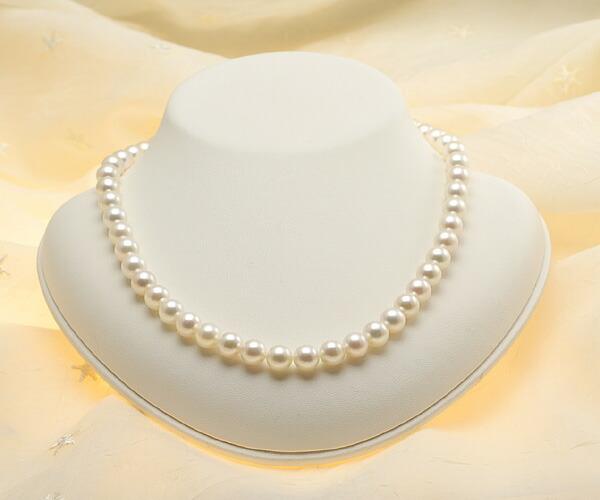 【真珠の本場 伊勢志摩よりお届け】8.0-8.5mmほんのり淡いピンク♪あこや本真珠ネックレス・ピアスセット【nc0591】