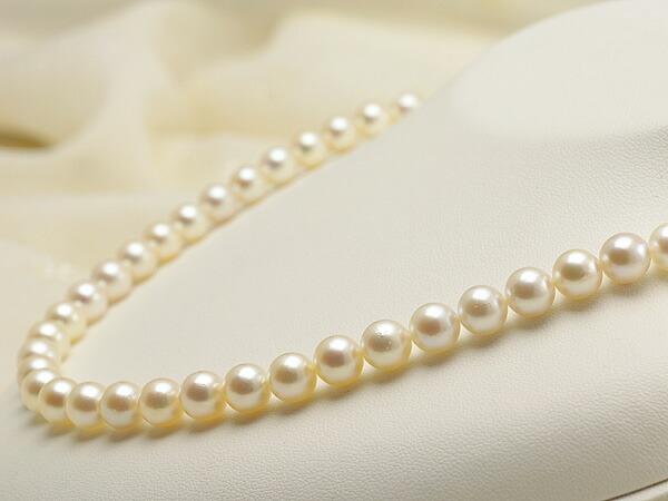 【真珠の本場 伊勢志摩よりお届け】7.5〜8.0mmほんのり優しいピンク♪あこや本真珠ネックレス【nc0594】