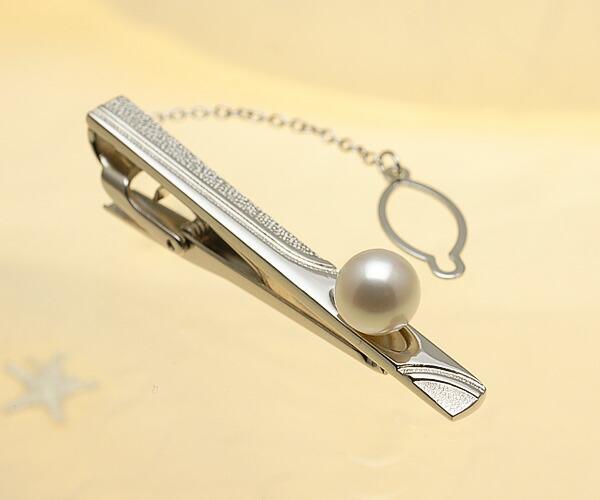 【真珠の本場 伊勢志摩よりお届け】ほんのり淡いピンク♪8.5mm あこや本真珠 ネクタイピン【tp0050】