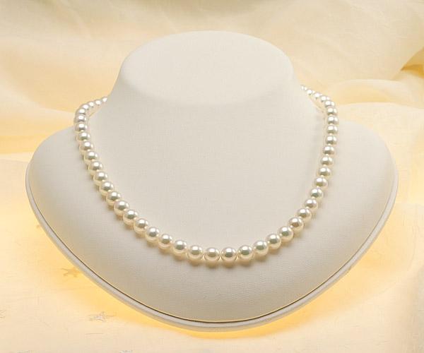 【真珠の本場 伊勢志摩よりお届け】ピンクグリーンの華やかで美しい色目♪7.0〜7.5mmあこや本真珠花珠ネックレス・ピアスセット(鑑別書付)【072068】