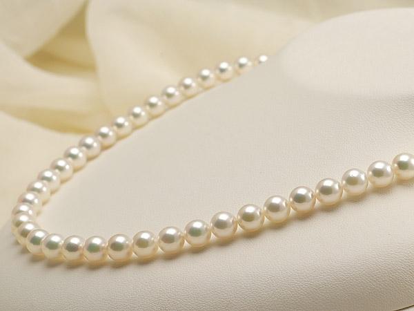 【真珠の本場 伊勢志摩よりお届け】ピンクグリーンの華やかで美しい色目♪7.0〜7.5mmあこや本真珠花珠ネックレス・ピアスセット(鑑別書付)【0720687】